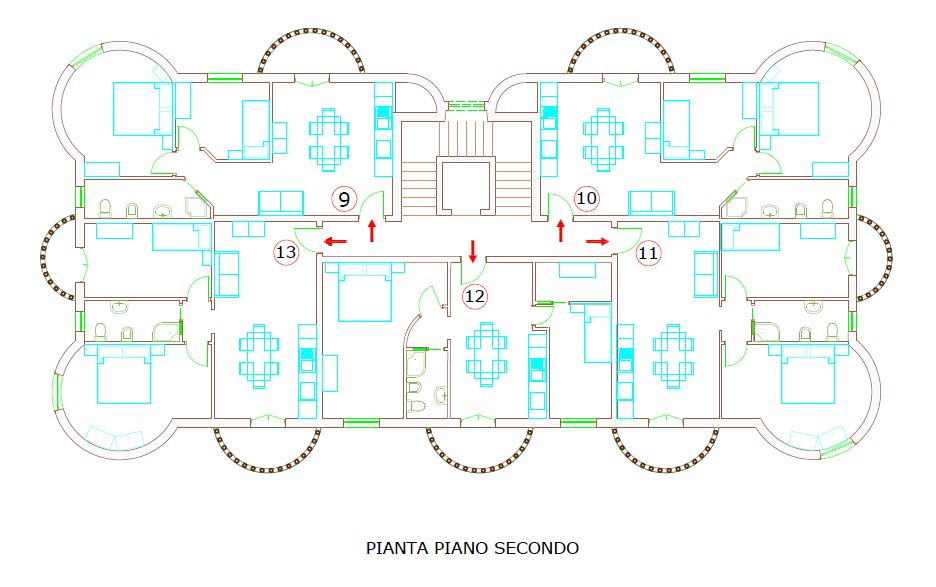Pianta_piano_secondo - second floor footprint
